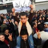 Bambino manifesta in Tunisia