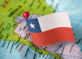 Bandiera mappa Cile