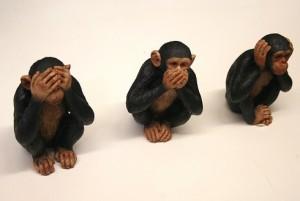 Non vedo non sento scimmie